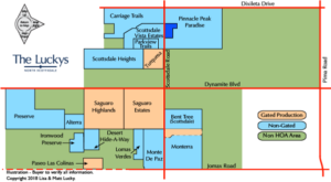Clickable Desert Foothills Area Map