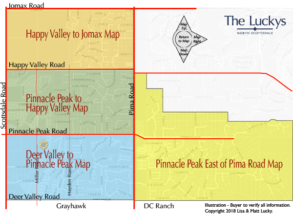 Pinnacle Peak Area Map