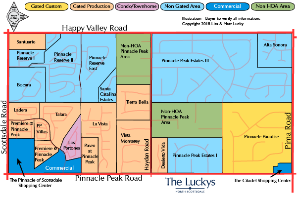 Pinnacle Peak to Happy Valley Map