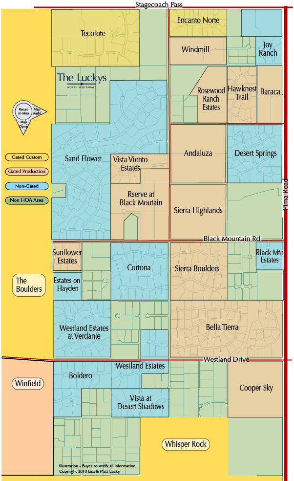 Other Boulders Area Subdivisions Map