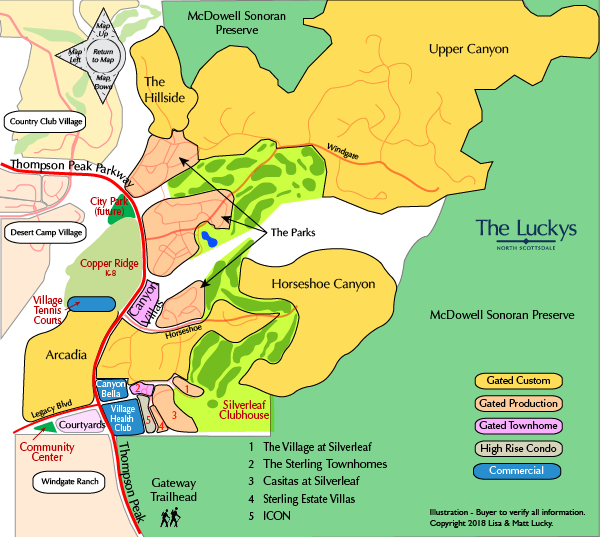 Silverleaf Village Map