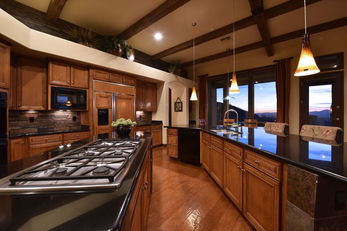 Gas Cooktop with Beautiful Granite Counters
