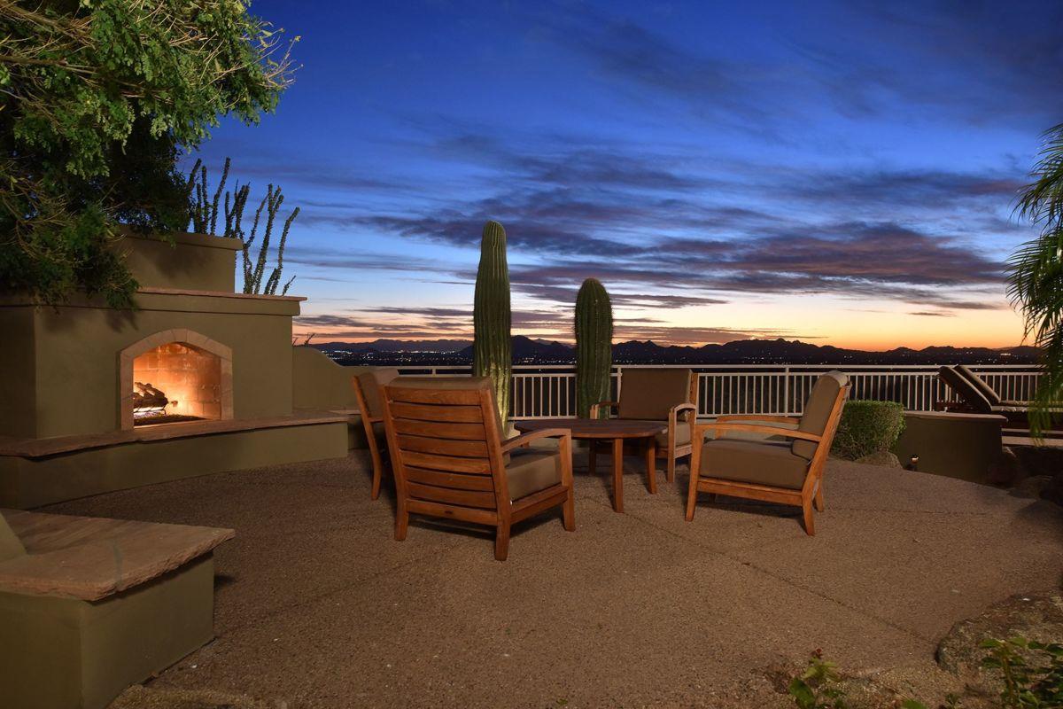 Nighttime Saguaros